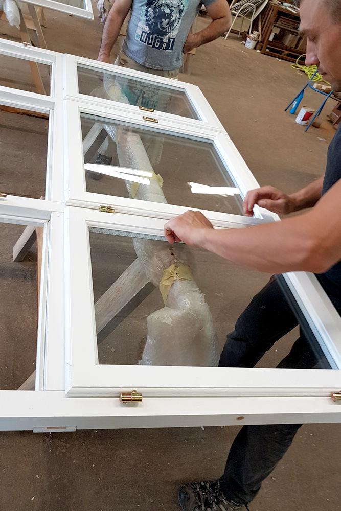 Fremstilling af koopier og nye vinduer